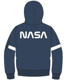 Alpha Industries mikina Apollo 15 Hoody (modrá/bílá)