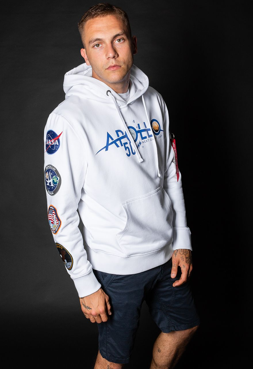 198350-09   Alpha Industries mikina Apollo 50 Patch Hoody