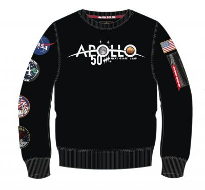 Alpha Industries mikina Apollo 50 Patch Sweater černá