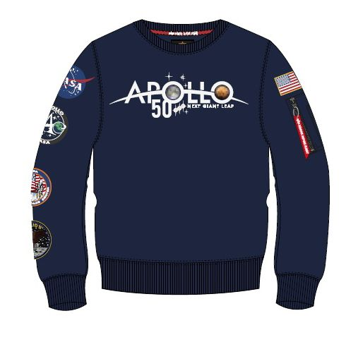 198363-07   Alpha Industries mikina Apollo 50 Patch Sweater