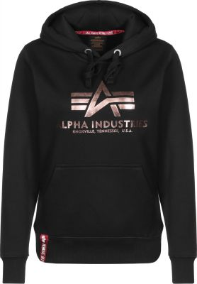 Alpha Industries Basic Hoody (black/gold)