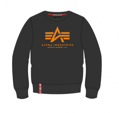 Alpha Industries Basic Sweater (black/neon orange)