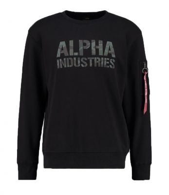 Alpha Industries Camo Print Sweat (black/woodland)