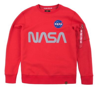Alpha Industries mikina NASA Reflective Sweater (Red)