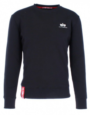 Alpha Industries  mikina Basic Sweater Small Logo (black)