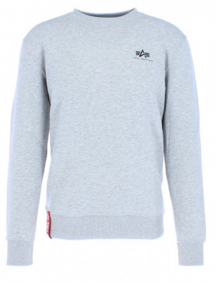 Alpha Industries mikina Basic Sweater Small Logo (grey heater)