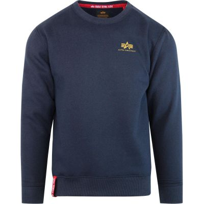188307-435   Alpha Industries Basic Sweater Small Logo (new navy)