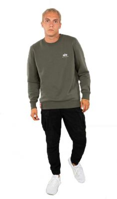Alpha Sweater Small Logo (olive)