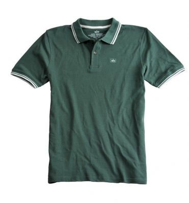 Alpha Industries Twin Stripe Polo II (dark petrol)