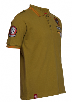 196602-440   Alpha Industries Air Crew Polo (khaki)