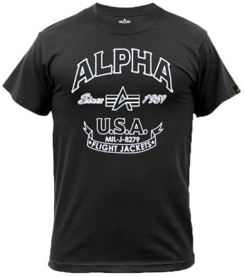196504-03   Alpha Industries FJ T (black)