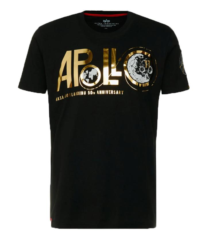 Alpha Industries pánské triko Apollo 50 PM T black - Etappa