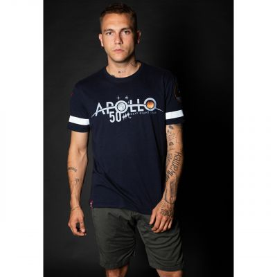 Alpha Industries triko Apollo 50 Reflective T modré