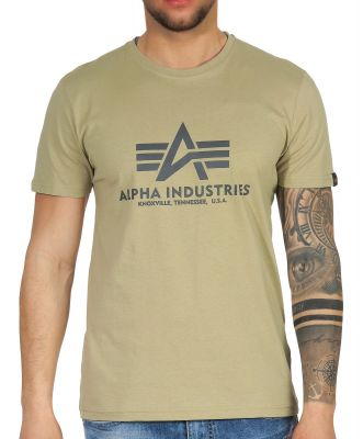 100501-82   Alpha Industries triko Basic Light Olive