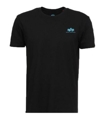 Alpha Industries Basic T Small Logo (black/blue)