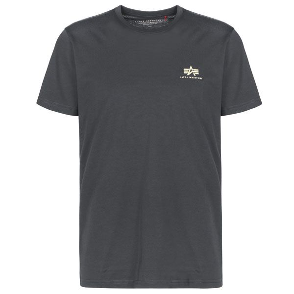 Alpha Industries Basic T Small Logo (black/grey)