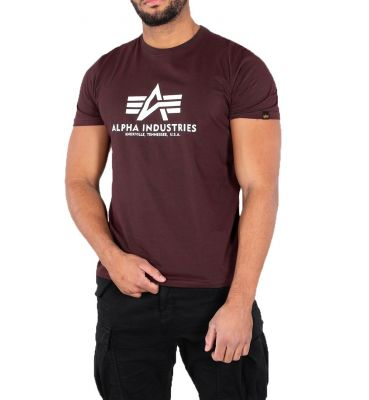 100501-21   Alpha Industries triko Basic (deep maroon)