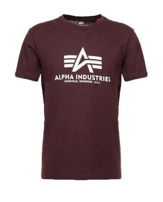 Alpha Industries triko Basic (deep maroon)