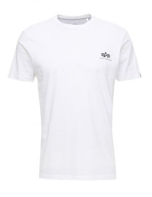 Alpha Industries Basic T Small Logo white
