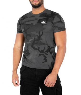 Alpha Industries Basic T Small Logo (black camo)
