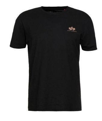 Alpha Industries Basic T Small Logo (black/gold)