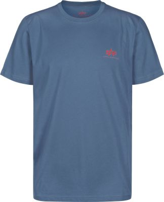 Alpha Industries Basic T Small Logo (powder blue)