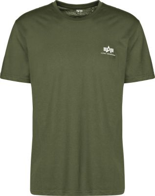 Alpha Industries Basic T Small Logo (dark olive)