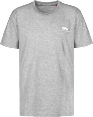 Alpha Industries Basic T Small Logo (grey/white)