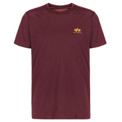 Alpha Industries Basic T Small Logo (burgundy)