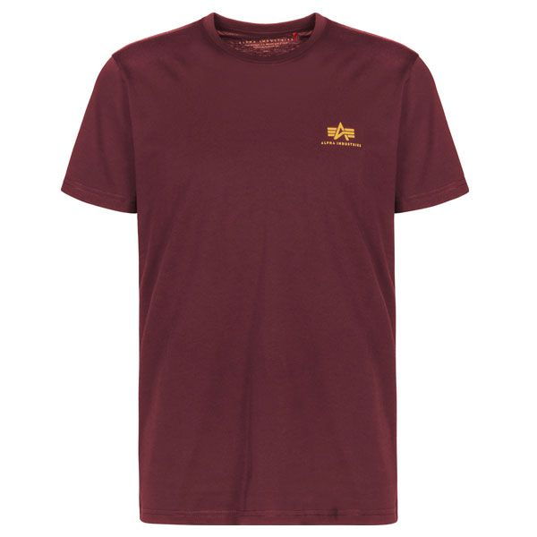 Alpha Industries triko small logo burgundy