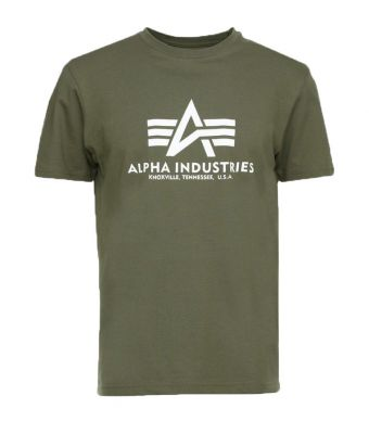 Alpha Industries triko Basic T (dark olive)