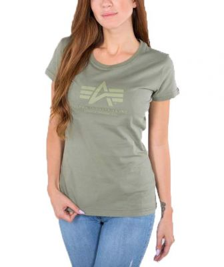 Alpha Industries dámské triko Logo T olive